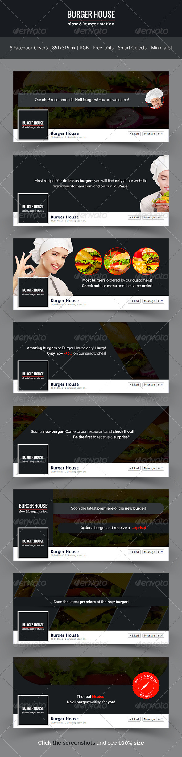 Burger House - Facebook Covers - Facebook Timeline Covers Social Media