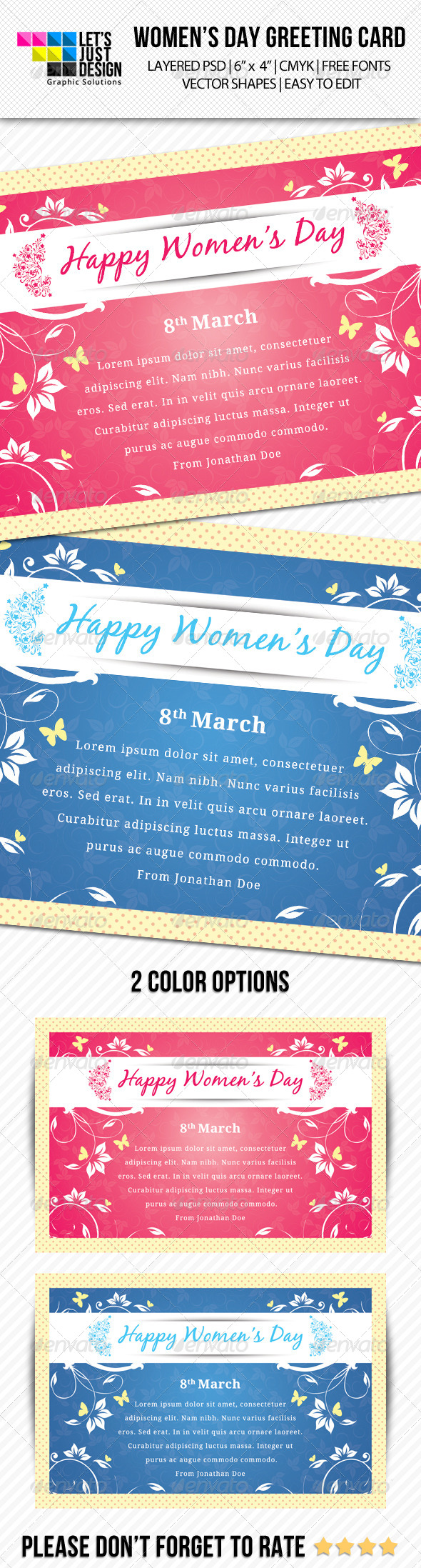 Women's Day Greeting Card - Greeting Cards Cards & Invites