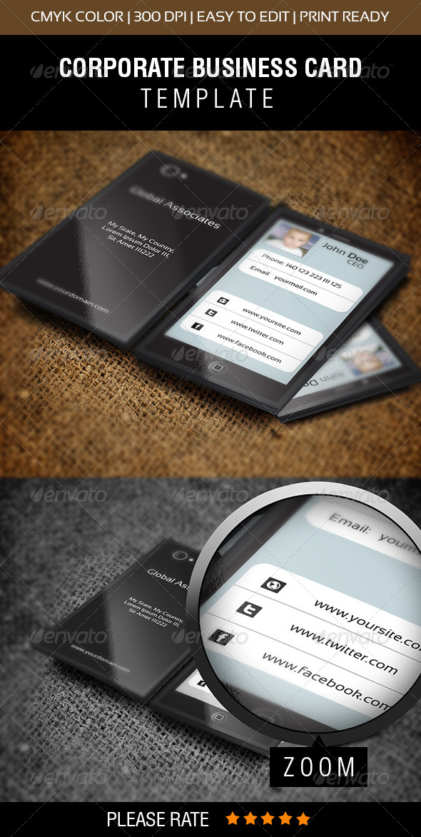 Mobile Phone Business Card - Corporate Business Cards