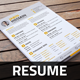 Resume & Cover Letter Template v3 - GraphicRiver Item for Sale