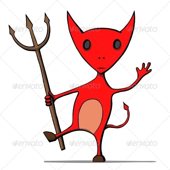 Cartoon Devil - Monsters Characters