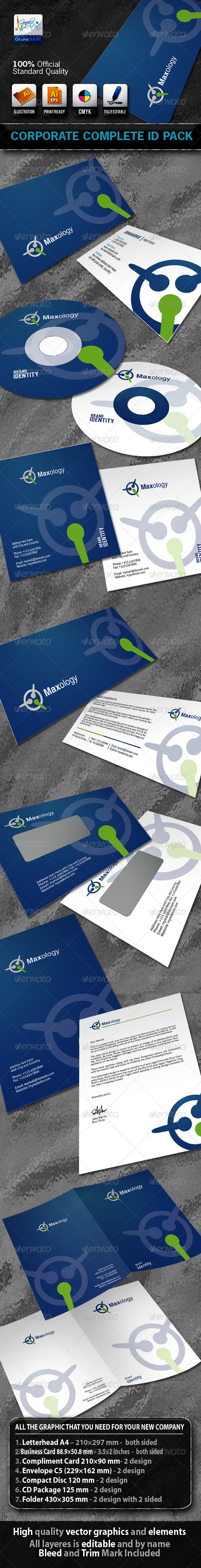 Maxology Business Corporate ID Pack With Logo - Stationery Print Templates