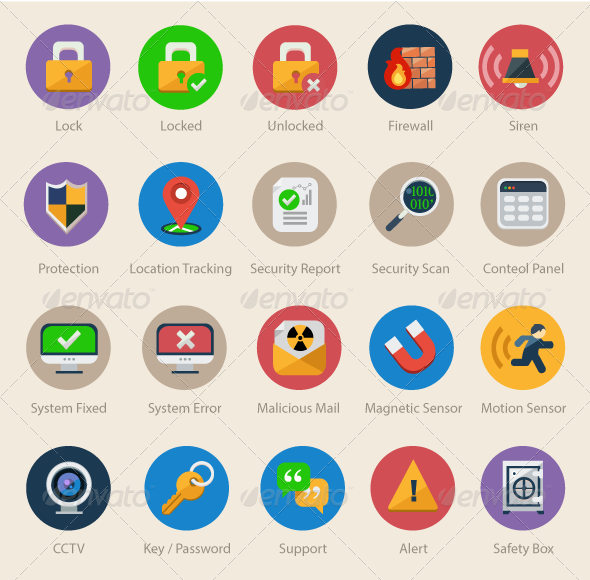 20 Security & Safety Icons - Web Icons