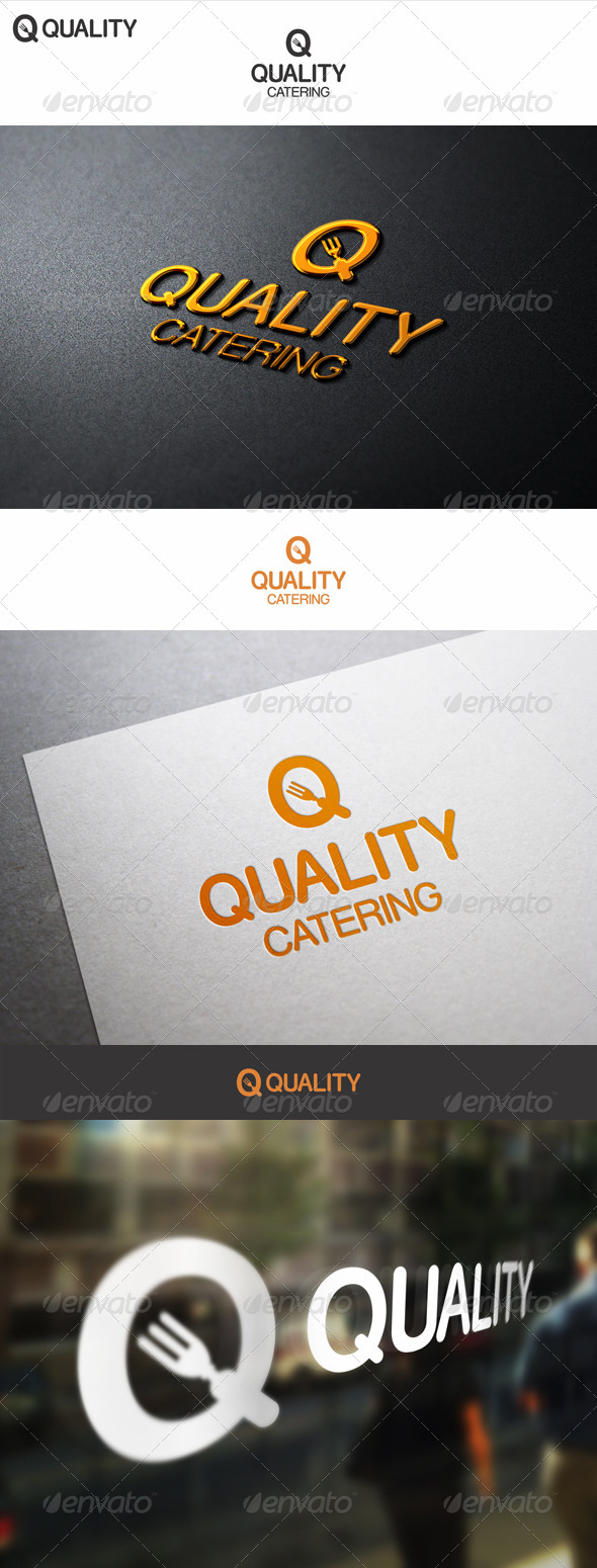 Quality Food Catering Logo - Food Logo Templates