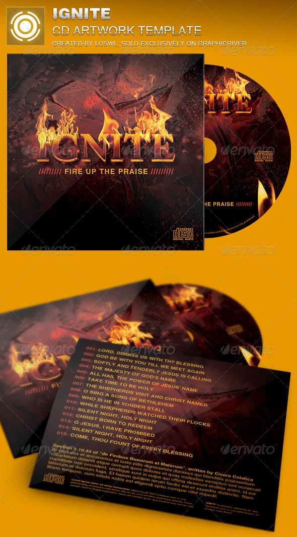 Ignite CD Artwork Template - CD & DVD Artwork Print Templates