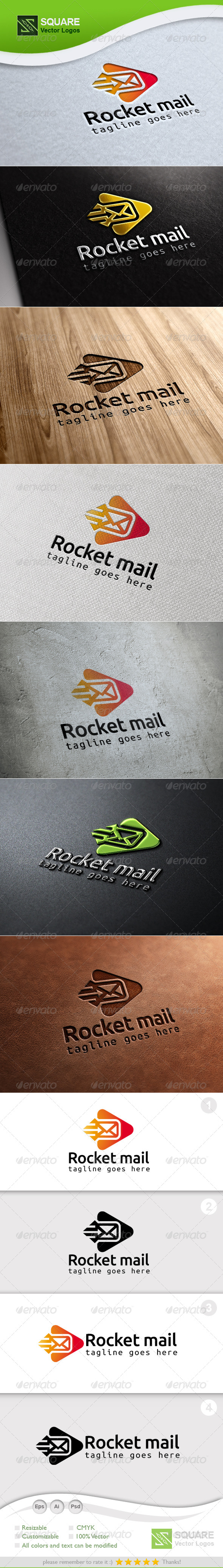 Rocket, Mail Vector Logo Template - Symbols Logo Templates
