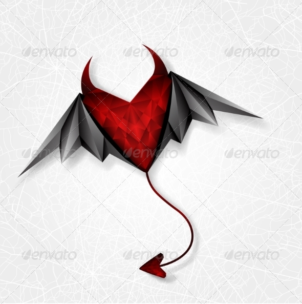 Heart Demon with Wings - Halloween Seasons/Holidays