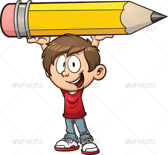 Boy and Pencil - People Characters