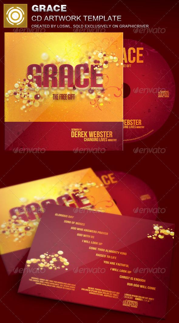 Grace CD Artwork Template - CD & DVD Artwork Print Templates