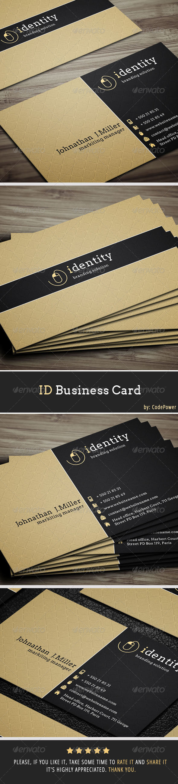 ID Business Card - Creative Business Cards