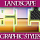 Set of Unique Ladscape Graphic Styles for Design 2 - GraphicRiver Item for Sale