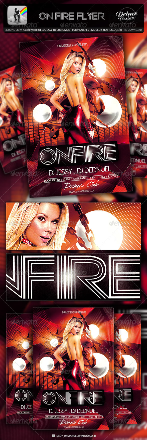 On Fire Flyer - Events Flyers