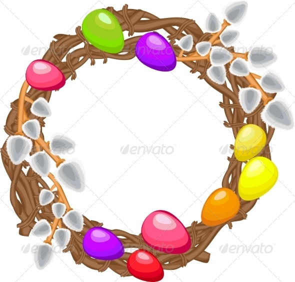 Easter Wreath - Miscellaneous Vectors