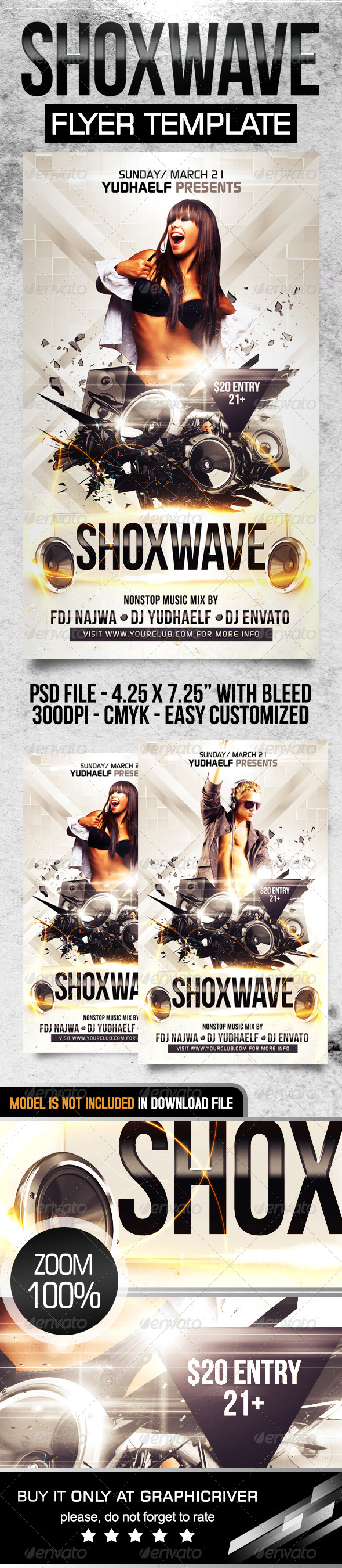 Shoxwave Flyer Template - Flyers Print Templates