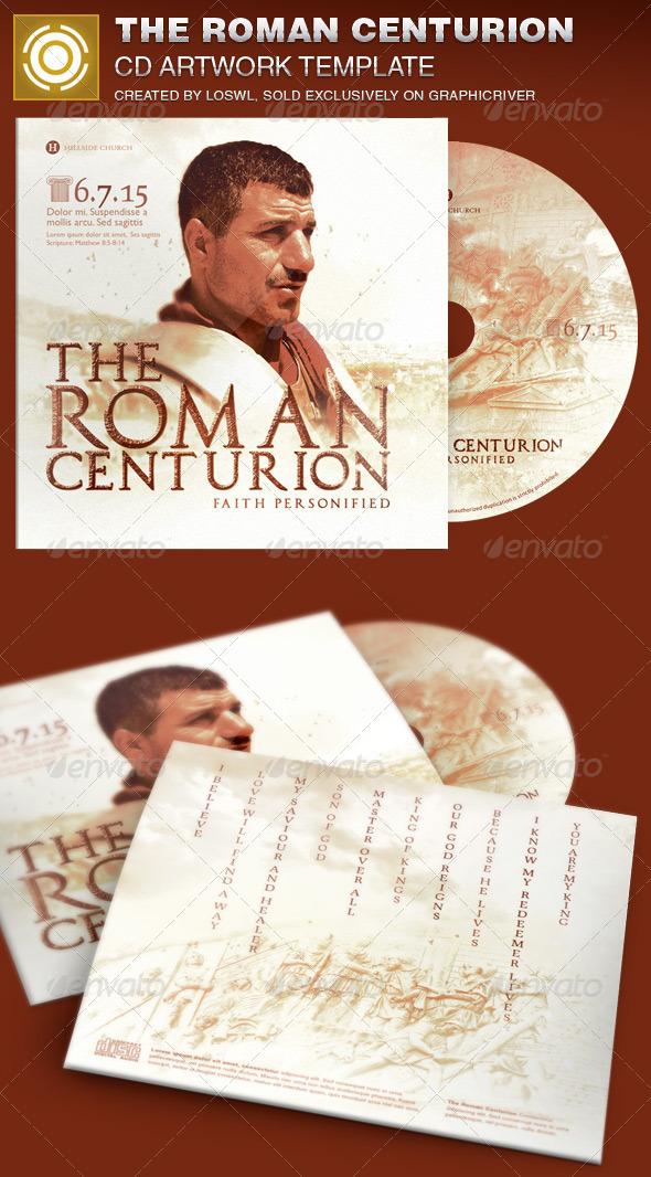Roman Centurion CD Artwork Template - CD & DVD Artwork Print Templates