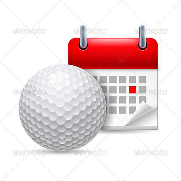 Golf Ball and Calendar - Miscellaneous Vectors