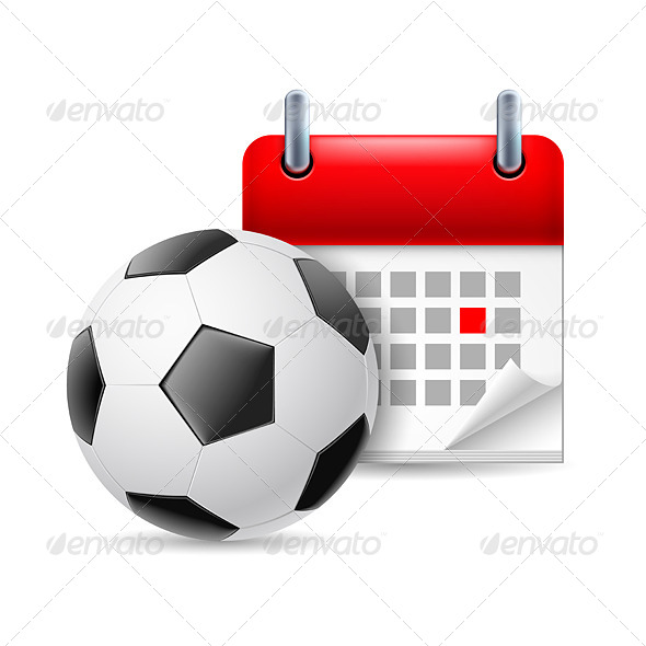 Football and Calendar - Miscellaneous Vectors