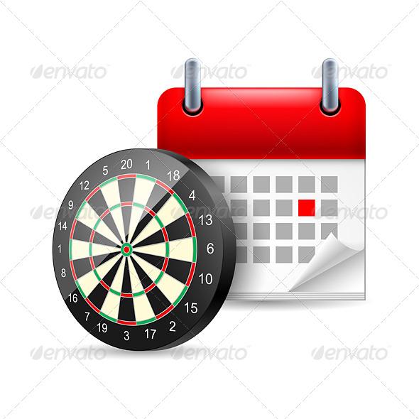Darts and Calendar - Miscellaneous Vectors