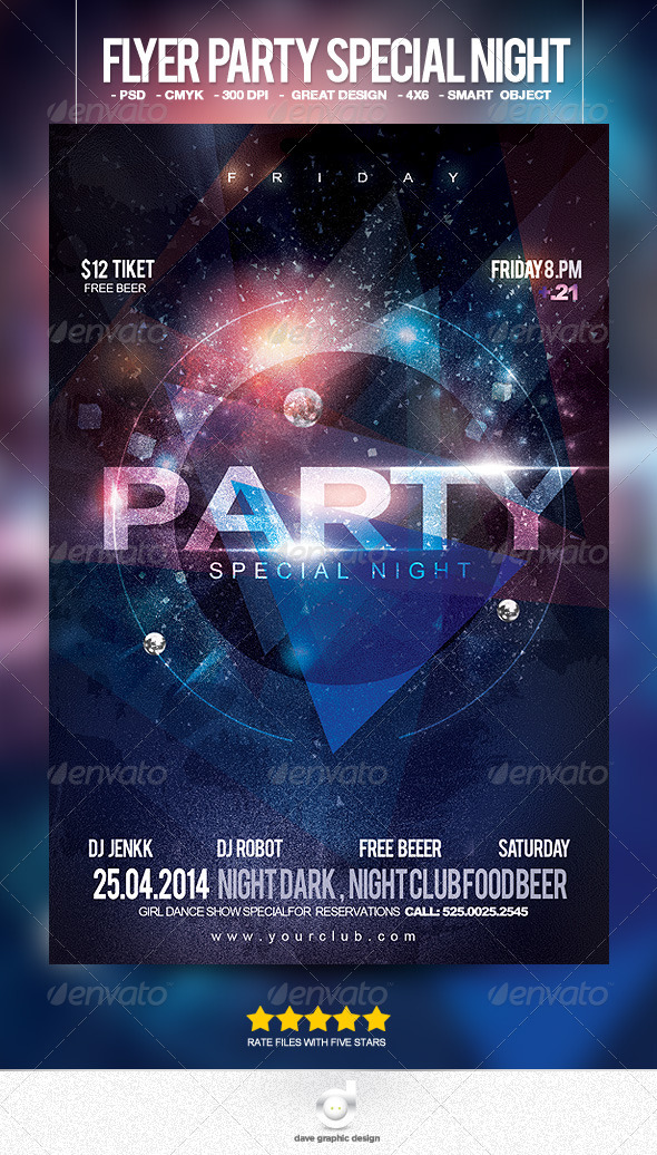 Flyer Party Special Night - Clubs & Parties Events