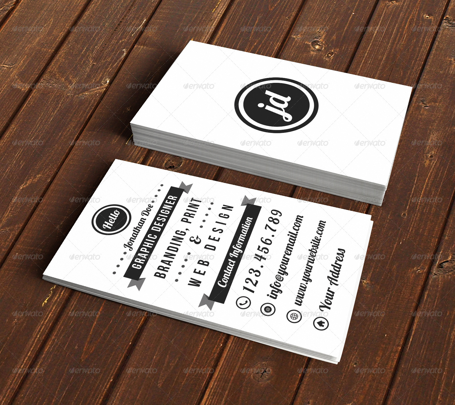 Awesome Typography Business Card Pictures Inspiration - Business ...