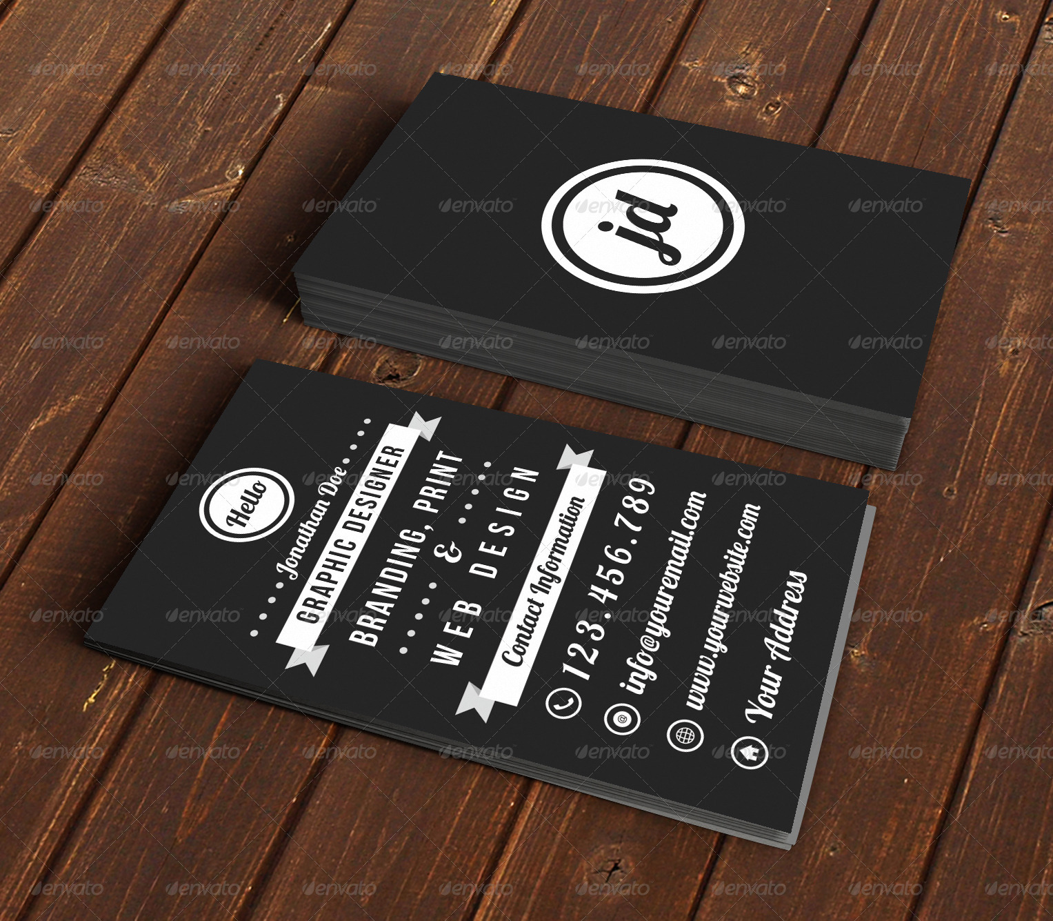 Vintage Typography Business Card by Designs4you | GraphicRiver