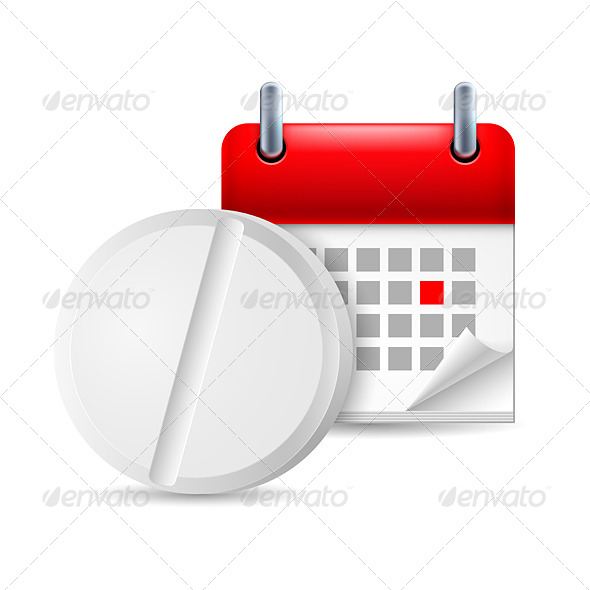 Pill and Calendar - Miscellaneous Vectors