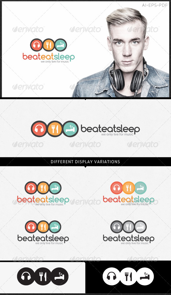 Music Logo - Beat Eat Sleep - Logo Templates