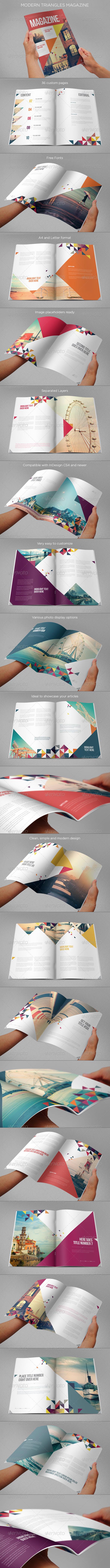 Modern Triangles Magazine - Magazines Print Templates