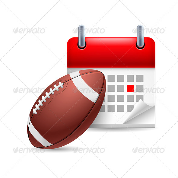 Rugby Ball and Calendar - Miscellaneous Vectors