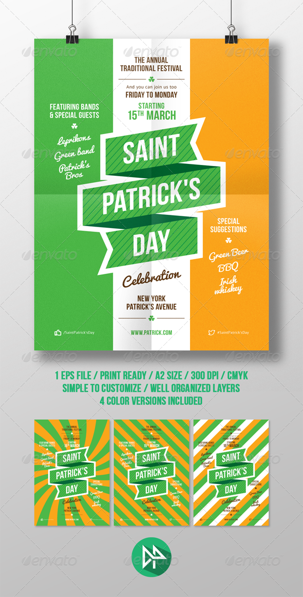 St. Patrick's Party Poster Template - Events Flyers