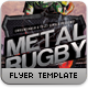 Metal Rugby Flyer Template - GraphicRiver Item for Sale