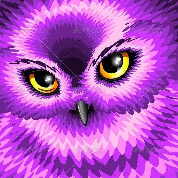 Pink Owl Eyes - Animals Characters