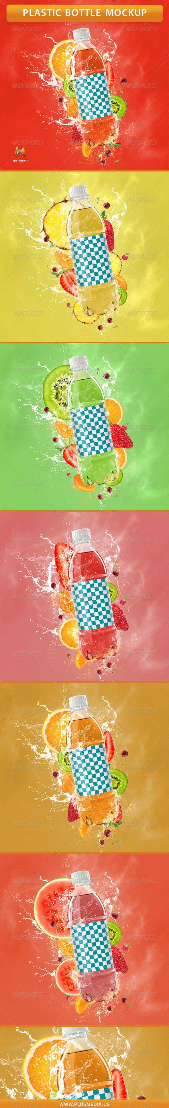 Plastic Bottle Mockup - Product Mock-Ups Graphics