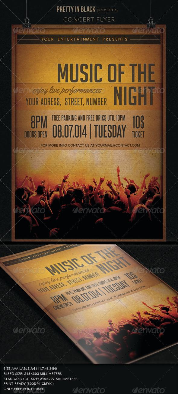 Music Concert Flyer - Flyers Print Templates