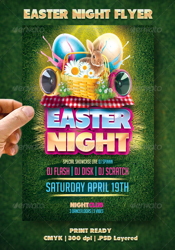 Easter Night Flyer - Events Flyers