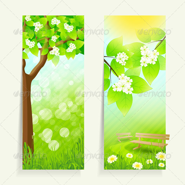 Two Vertical Banners - Landscapes Nature