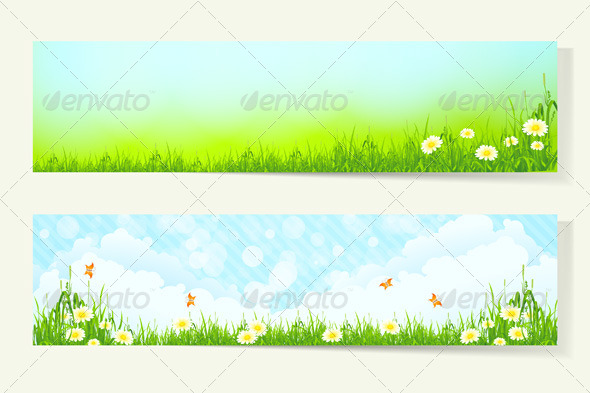 Two Horizontal Banners - Landscapes Nature