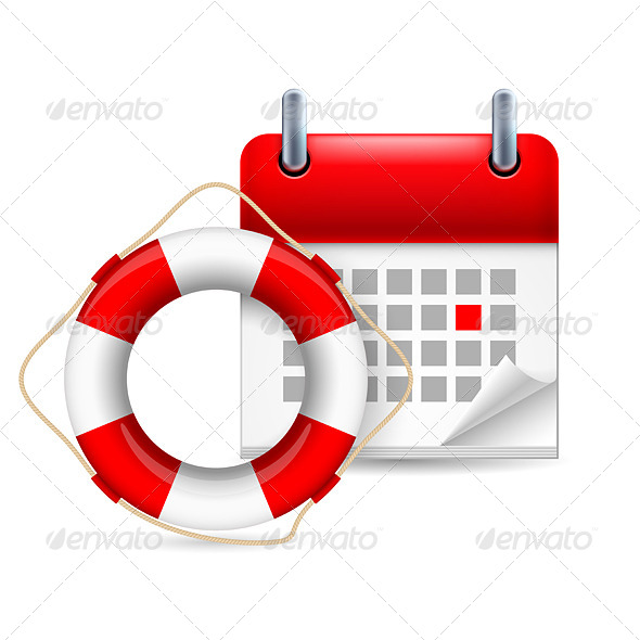 Flotation Ring and Calendar - Miscellaneous Vectors