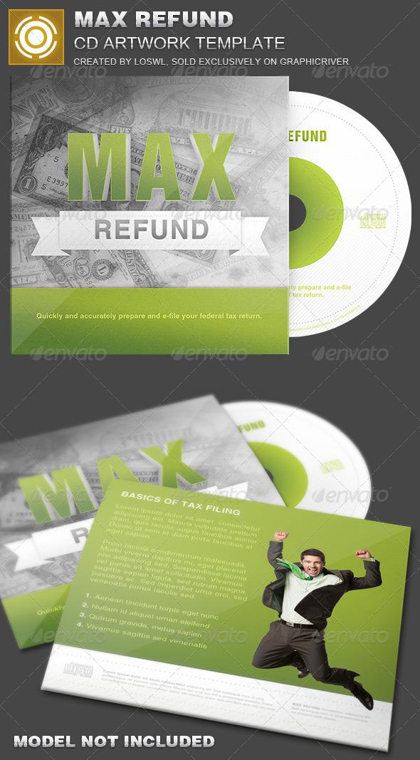 Max Refund CD Artwork Template - CD & DVD Artwork Print Templates