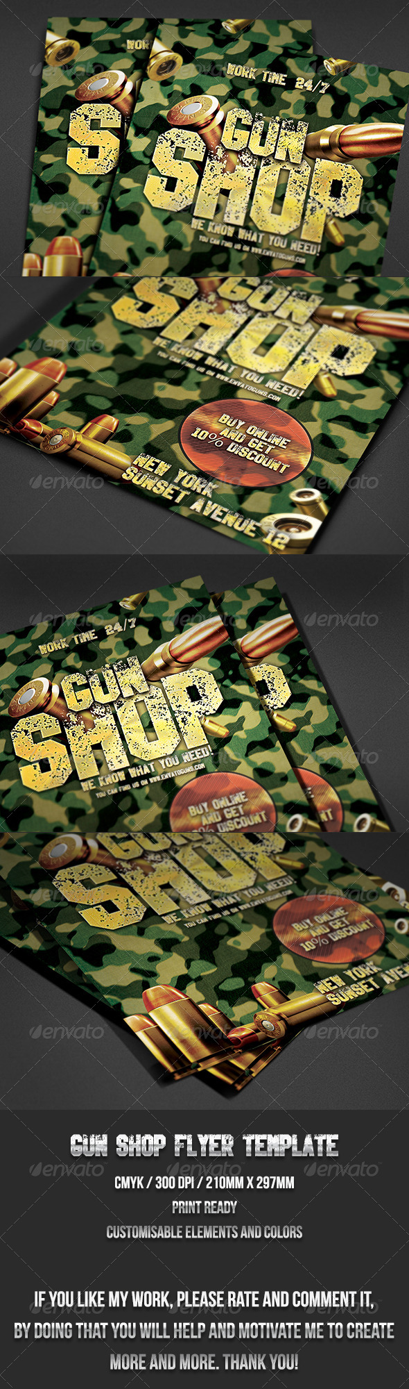 Gun Shop Flyer Template - Events Flyers