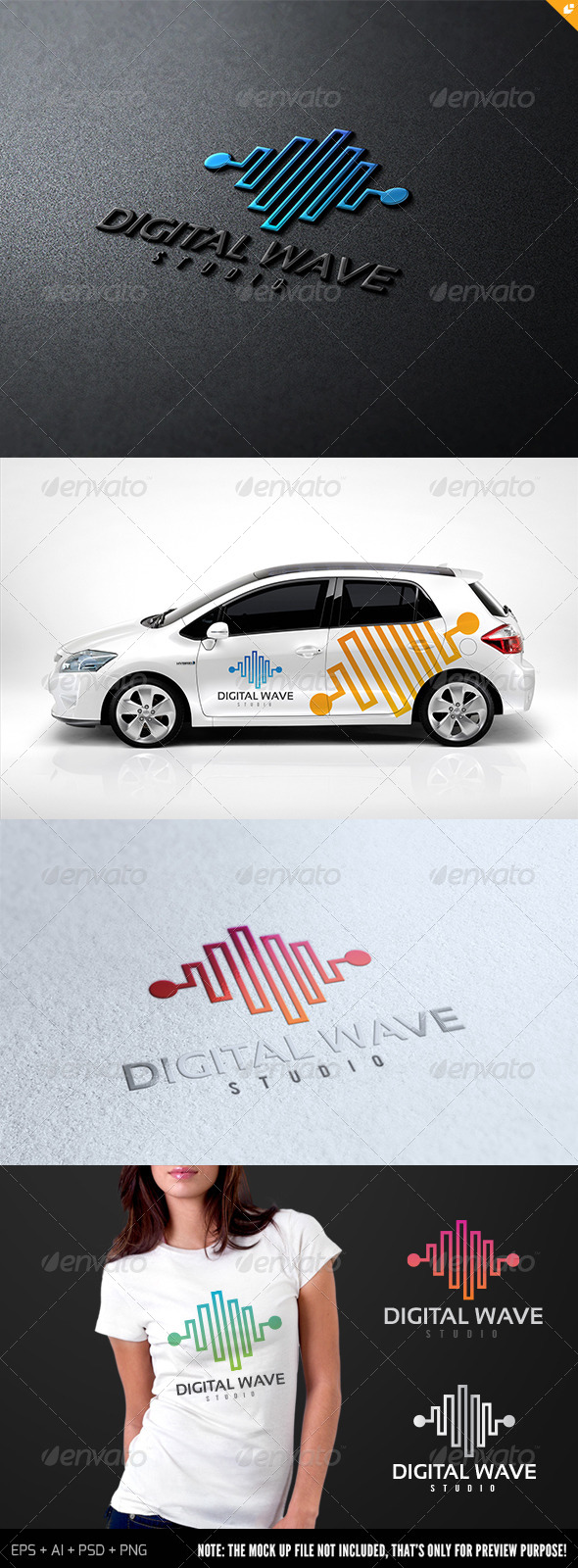 Digital Wave Studio Logo - Symbols Logo Templates