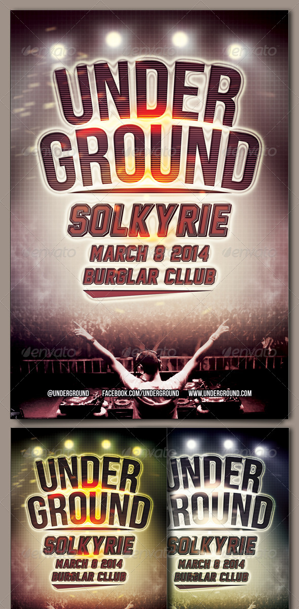 Underground Flyer Template - Events Flyers