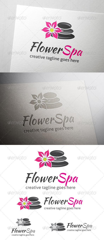 Flower Spa Logo - Nature Logo Templates