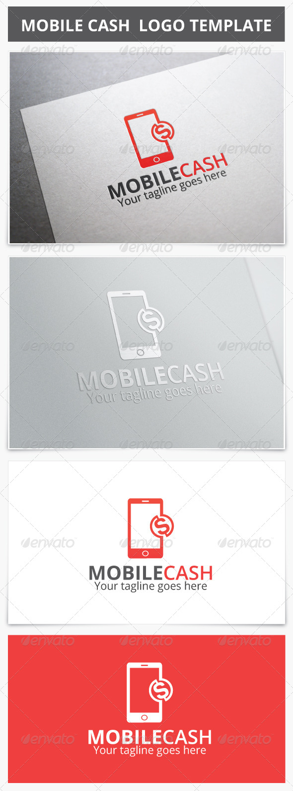 Mobile Cash Logo - Objects Logo Templates