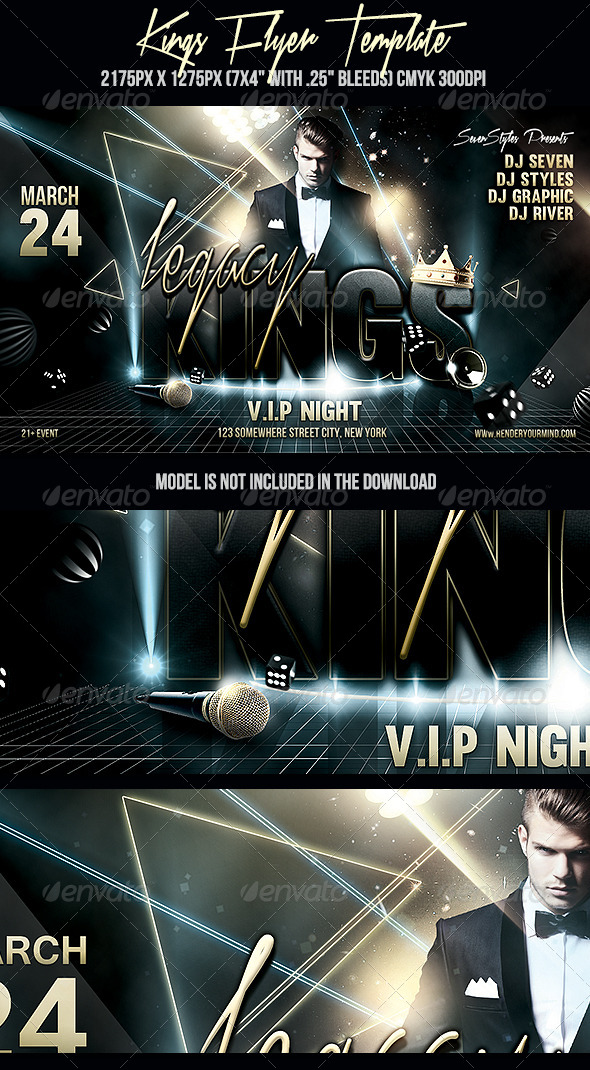 Kings Flyer Template - Clubs & Parties Events