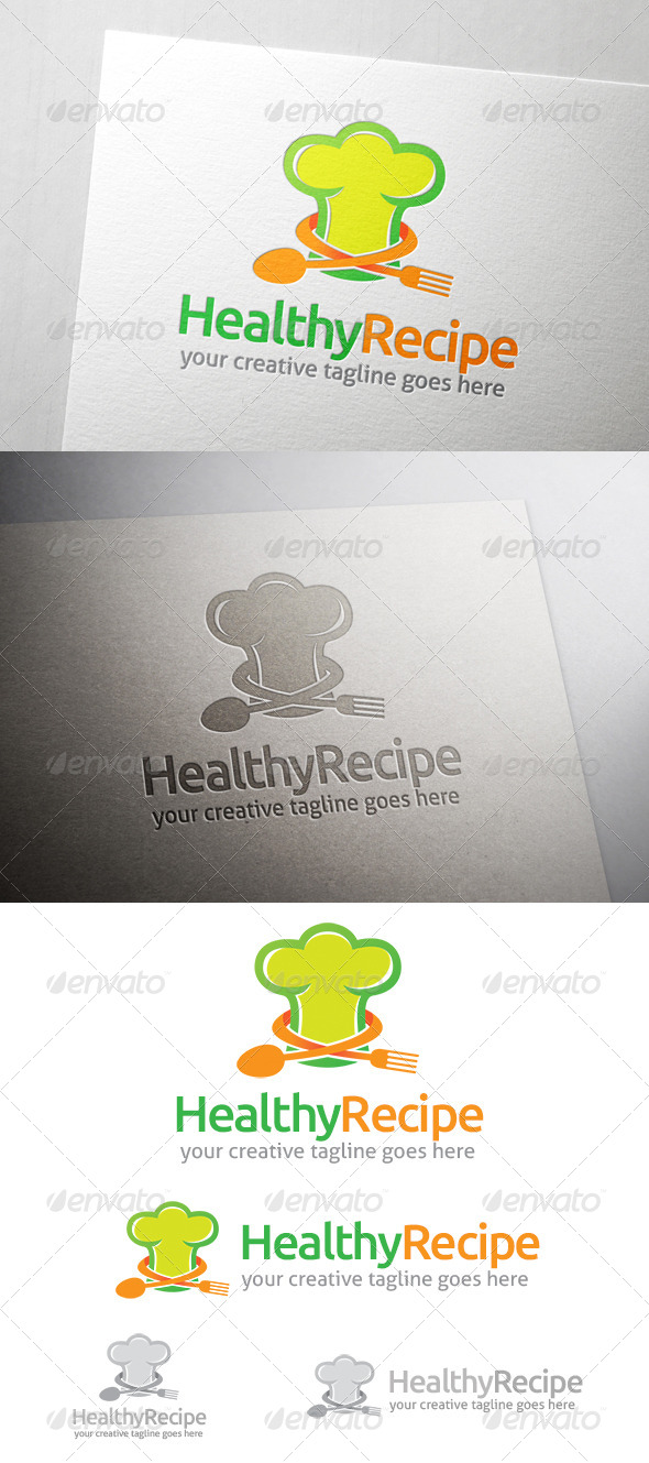 Healthy Recipe Logo - Food Logo Templates