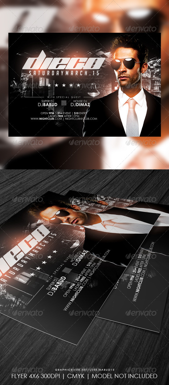 Solo DJ Flyer Template - Events Flyers