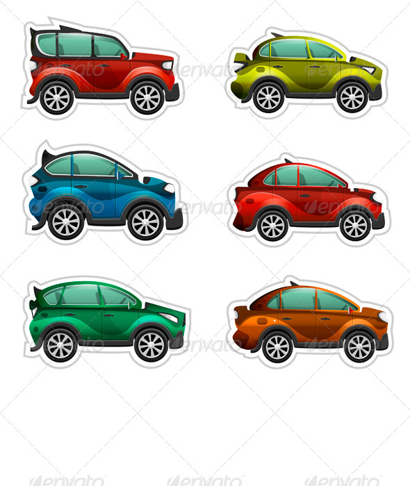 Toy Cars Stickers - Man-made Objects Objects
