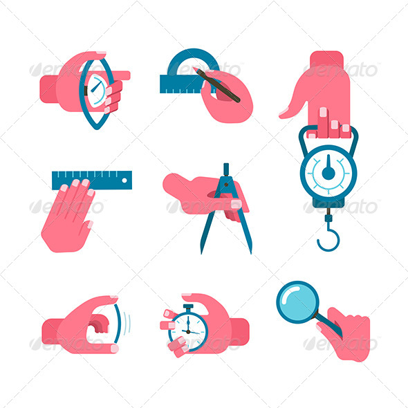 Hand-held Measurement Tools - Objects Icons