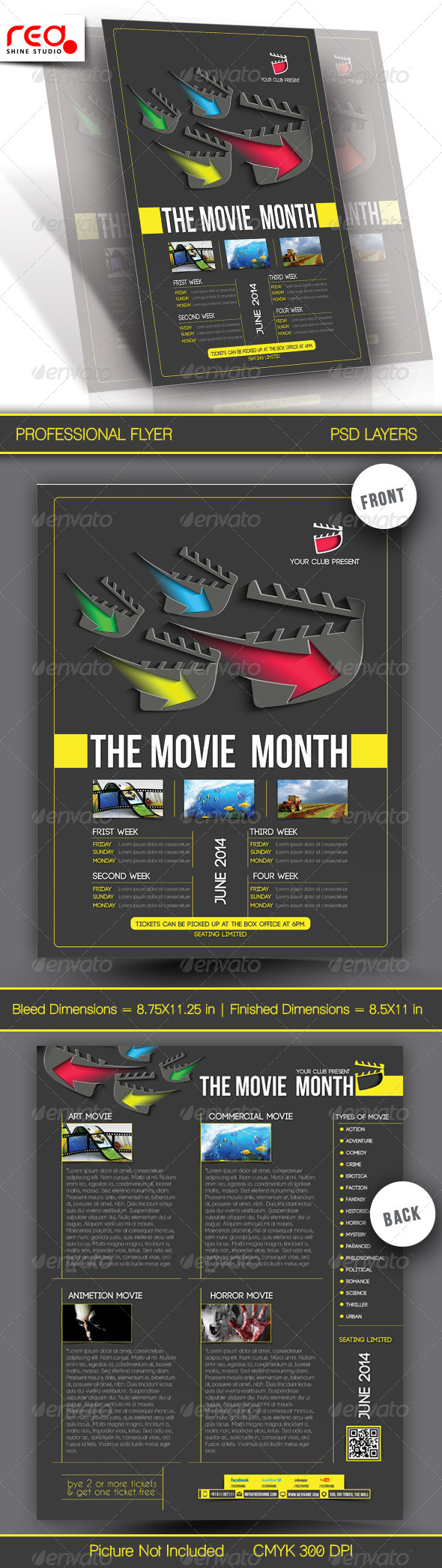 The Movie Month Flyer Template - Commerce Flyers